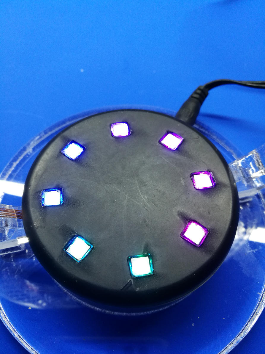 Cover of the levitation controller. Here are some Super-LEDs integrated (optional).