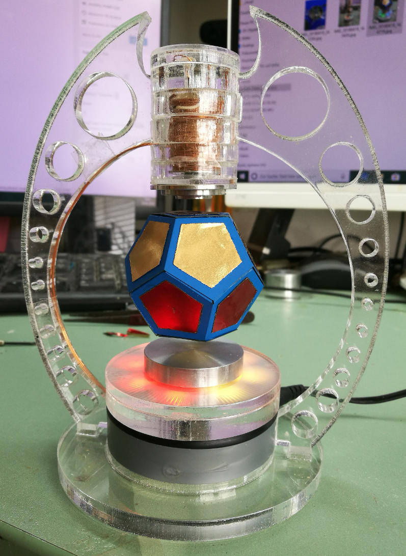 magnetic levitation of a dodecahedron